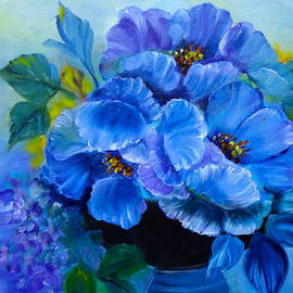Blue Poppies by Jenny Lee