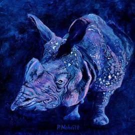 Paula Noblitt - Indian Rhino - Blue