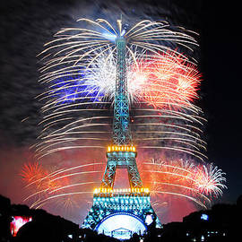 Blue White Red Fireworks by Joel Thai