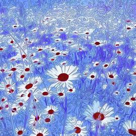 Georgiana Romanovna - Blue With White Daisies