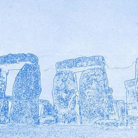 Blueprint Of Stonehenge by Celestial Images