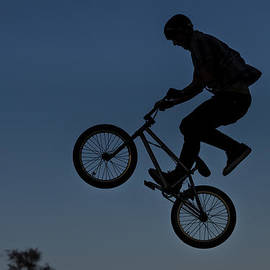 Bmx Above The Trees by Jerry Gammon