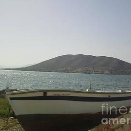 Boat On Alyki Beach-2 by Katerina Kostaki