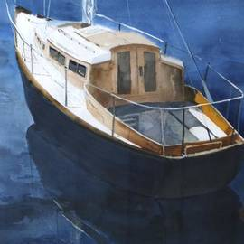 Boat on Blue by Susan Buscho