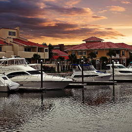 Boats And Sunset by Anthony Dezenzio