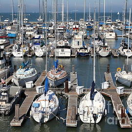 Wingsdomain Art and Photography - Boats at The San Francisco Pier 39 Docks 5D26009
