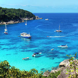 Boats on Tropical Waters