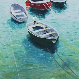 Boats St Ives Cornwall by Nigel Radcliffe