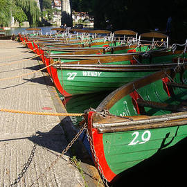 Row Boats In Waiting by Doc Braham