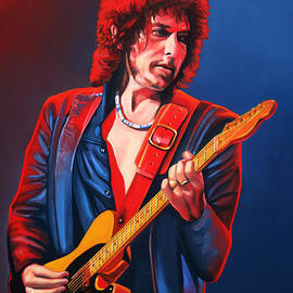 Bob Dylan Painting by Paul Meijering