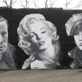 Bogart Monroe and Brando by Steven Parker