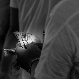 Bookmaker Counting Money by Colin Utz