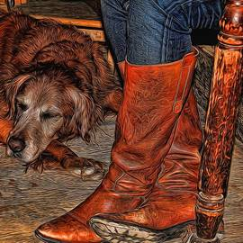Judy Vincent - Boots and Buddy Painted
