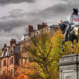 Boston Back Bay Rooftops in Autumn by Joann Vitali