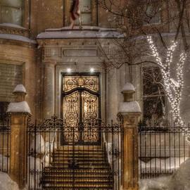 Joann Vitali - Boston Doorway in Snow - Back Bay