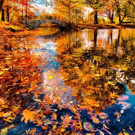 Boston Fall Foliage Reflection by Ludmila Nayvelt