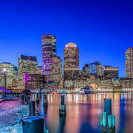 Boston Harbor At Twilight by Stacey Granger