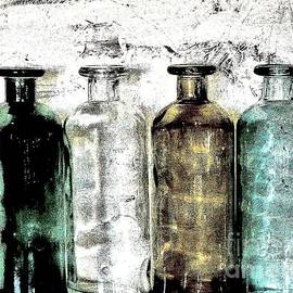 Bottles Against the Wall by Marsha Heiken