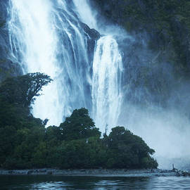 Bowen Falls at the entry to Milford Sound New Zealand by Kai Hyde