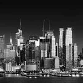 West Side skyline panorama at night, New York by Justin Foulkes
