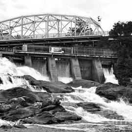 Bracebridge Hydro Waterfalls by Les Palenik