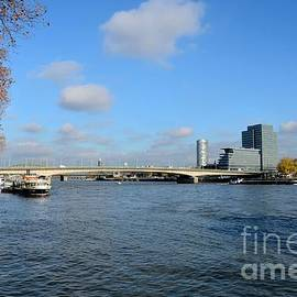 Bridge across Rhine River Cologne Germany by Imran Ahmed