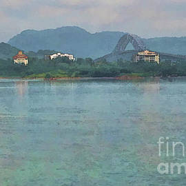 Bridge of the Americas from Casco Viejo - Panama by Julia Springer