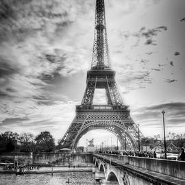 Bridge To The Eiffel Tower by John Wadleigh