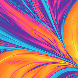 Bright Abstract Background, Flame by Oxygen