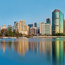 Brisbane City Reflections by Az Jackson
