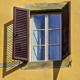Brown Window Shutters of Tuscany by David Letts