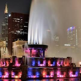 Buckingham Fountain Aglow by Frozen in Time Fine Art Photography