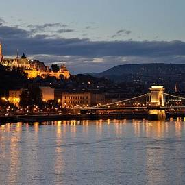 Budapest castle and bridge at night  by Imran Ahmed