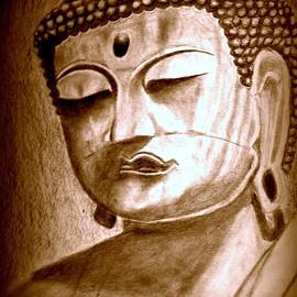 Buddha- Sepia by Irving Starr