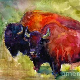 Svetlana Novikova - Buffalo Bisons painting
