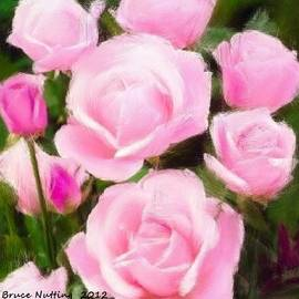 Bunch of Light Pink Roses by Bruce Nutting