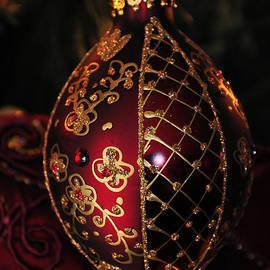 Burgundy Ornament by Teresa Blanton