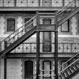 Burlington Place #2 - BW - Omaha - Nebraska by Nikolyn McDonald