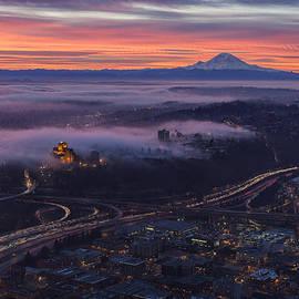 Mike Reid - Burning Seattle Sunrise