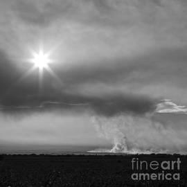 Burning Sugar Cane Fields Maui Hawaii by Edward Fielding
