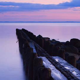 Burying Hill Beach Pier Westport Connecticut by Stephanie McDowell