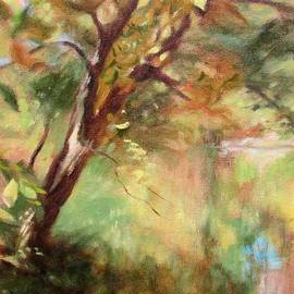 By the Greenway in Autumn- along the Roanoke River by Bonnie Mason