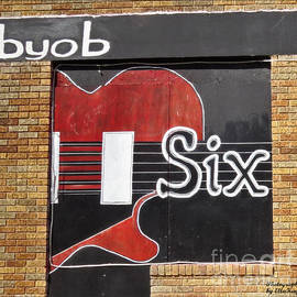 Ella Kaye Dickey - BYOB - Guitar Six Strings Bar Sign