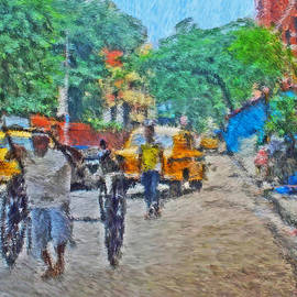 Cabs In Calcutta India by Digital Photographic Arts