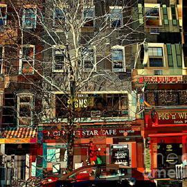 Cafe Row - New York by Miriam Danar