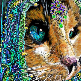 Calico Indian Bride Cats In Hats by Michele Avanti