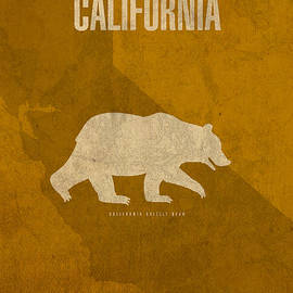 California State Facts Minimalist Movie Poster Art  by Design Turnpike