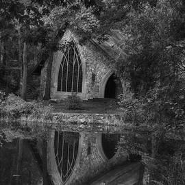 Callaway Chapel B/w by Heather Roper
