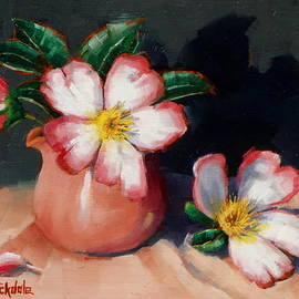Margaret Stockdale - Camellias And Chinese Tea Jug II