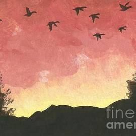 Sherry Goeben - Canada Geese -- Looking for Lodging for the Night